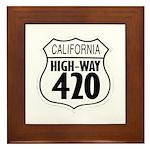 California High-Way 420 Framed Tile