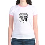 California High-Way 420 Jr. Ringer T-Shirt