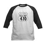 California High-Way 420 Kids Baseball Jersey
