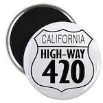California High-Way 420 Magnet