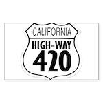 California High-Way 420 Rectangle Sticker
