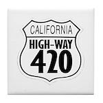 California High-Way 420 Tile Coaster