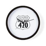 California High-Way 420 Wall Clock