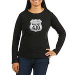 California High-Way 420 Women's Long Sleeve Dark T