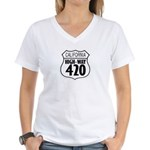 California High-Way 420 Women's V-Neck T-Shirt