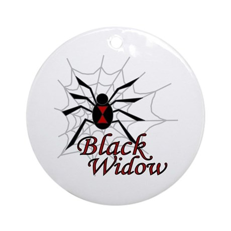 Black Widow Ornament (Round)