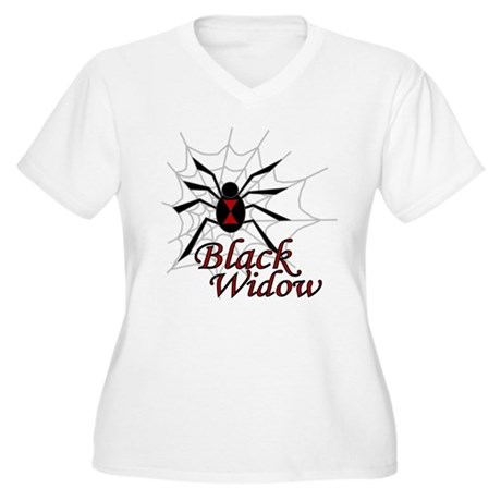 Black Widow Women's Plus Size V-Neck T-Shirt