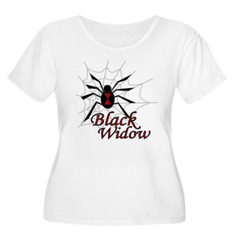 Black Widow Women's Plus Size Scoop Neck T-Shirt