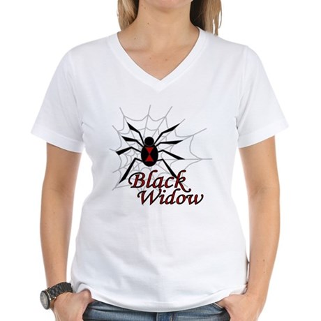 Black Widow Women's V-Neck T-Shirt
