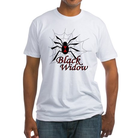 Black Widow Fitted T-Shirt