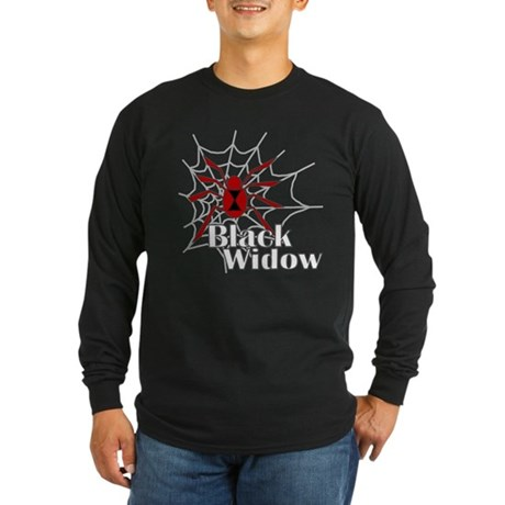 Black Widow Long Sleeve Dark T-Shirt
