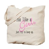 run like a girl Tote Bag