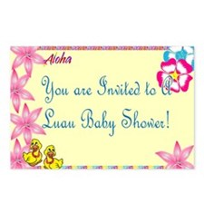 Luau Baby Shower Invite Postcards (Package of 8)