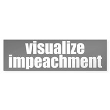 visualize impeachment Bumper Bumper Sticker