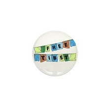 Free Tibet Prayer Flags Mini Button (100 pack)