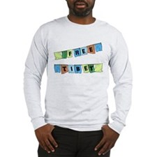 Free Tibet Prayer Flags Long Sleeve T-Shirt