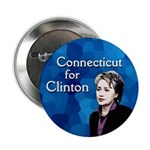 Connecticut for Clinton Campaign Button