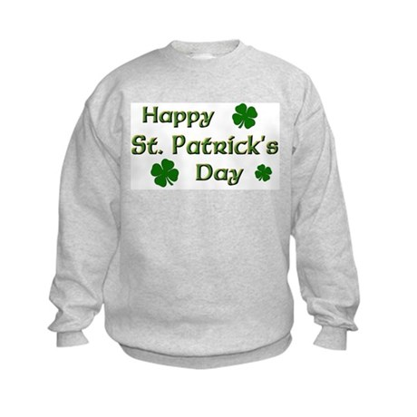 Happy St. Patrick's Day Kids Sweatshirt