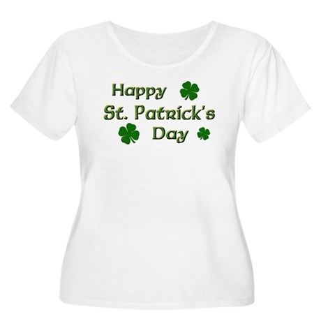 Happy St. Patrick's Day Women's Plus Size Scoop Ne