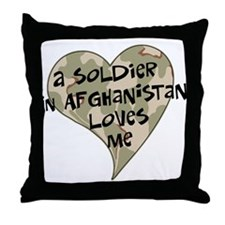 Afghanistan soldier love Throw Pillow