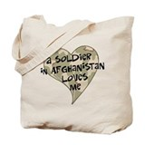 Afghanistan soldier love Tote Bag