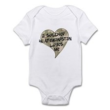 Afghanistan soldier love Infant Bodysuit