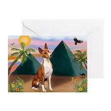 Basenji at the Pyramids Greeting Card