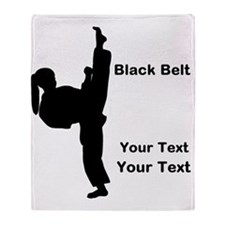 Black Belt Kick Throw Blanket