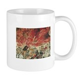 Samurai Razing Temple Mug (white)
