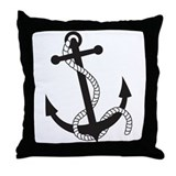 Stylish Anchor Throw Pillow
