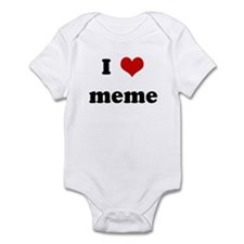 I Love meme Infant Bodysuit