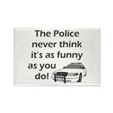 Police Funny Rectangle Magnet