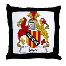 Joyce Family Crest Throw Pillow
