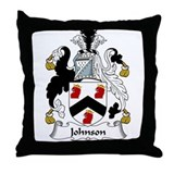 Johnson Family Crest Throw Pillow