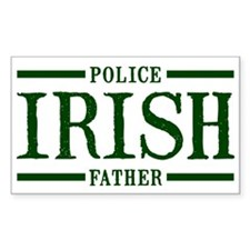 Irish Police Father Rectangle Decal
