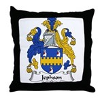 Jephson Family Crest Throw Pillow