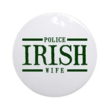 Irish Police Wife Ornament (Round)