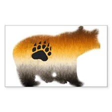 BEAR PRIDE FURRY BEAR 2 Rectangle Decal