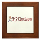 uss eisenhower Framed Tile