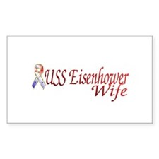uss eisenhower wife Rectangle Decal
