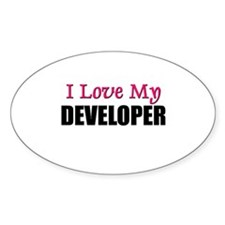 I Love My DEVELOPER Oval Decal