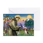 Saint Francis / Beagle Greeting Cards (Pk of 20)