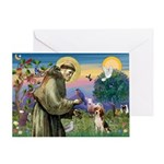 Saint Francis / Beagle Greeting Card