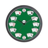 Poker Hands (Wall Clock)