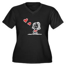 Blow Kisses Valentine Couple Women's Plus Size V-N