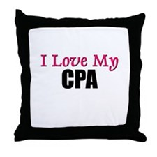 I Love My CPA Throw Pillow