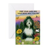 Free Your Hair... Beardie Greeting Cards (Pk of 20