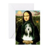 Mona Lisa &amp; Beardie Greeting Cards (Pk of 20)