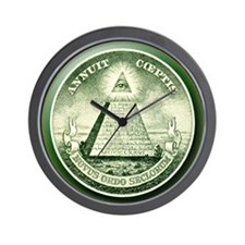 The Great Seal - Pyramid Eye Wall Clock