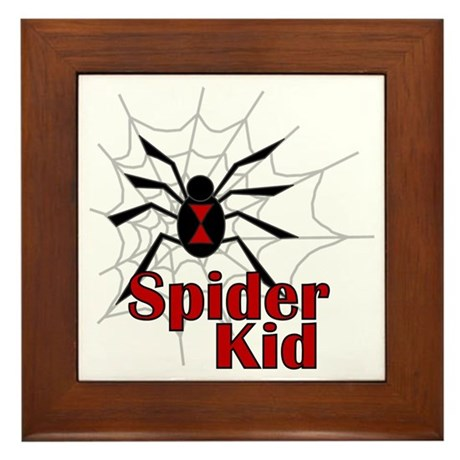 Spider Kid Framed Tile